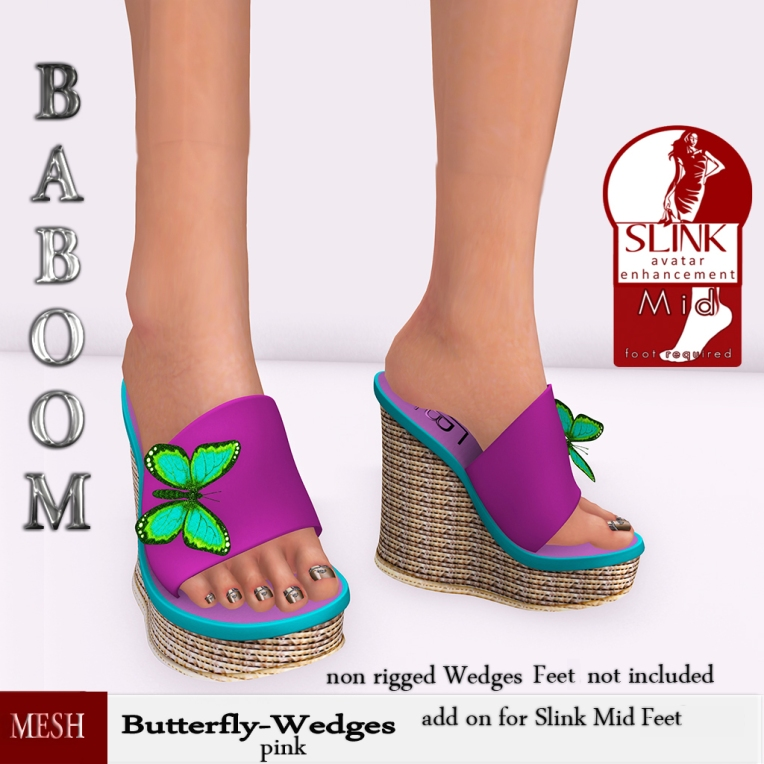 Baboom-Butterfly-pink-Wedges-