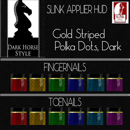 Gold Striped Polka dots Dark ad