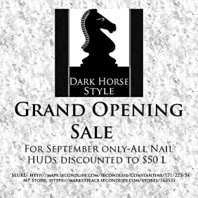 Sale Advert-Grand Opening
