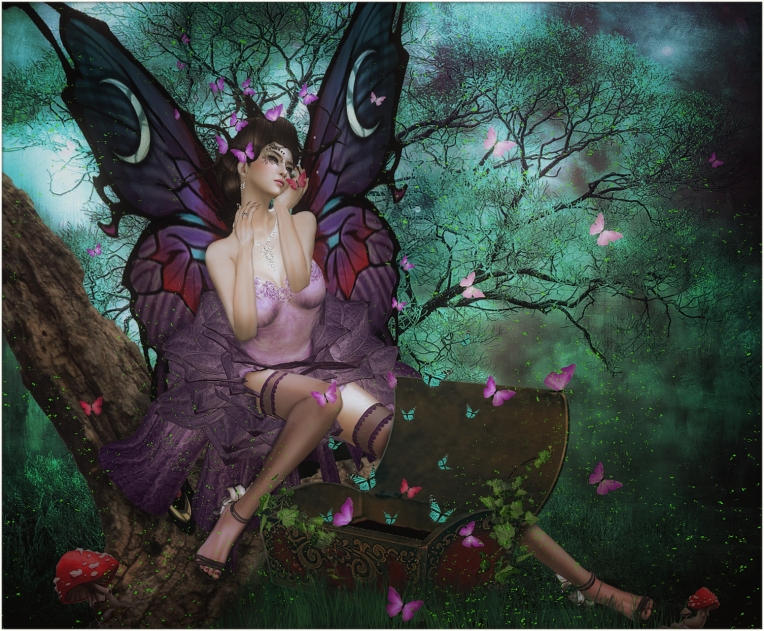 Where do butterflies come from? There is a special faery who bundles them all up every winter so they will not die and in the Spring she open the box, they kiss her cheek and fly away.