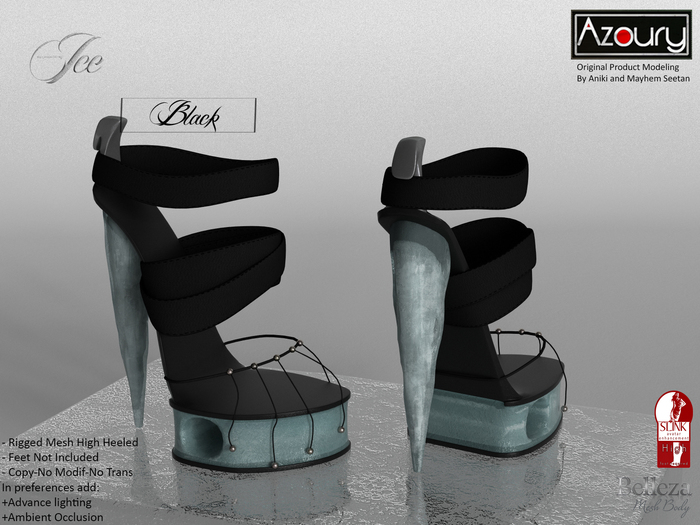 AZOURY_-_Ice_-_High_Heeled_(Black)