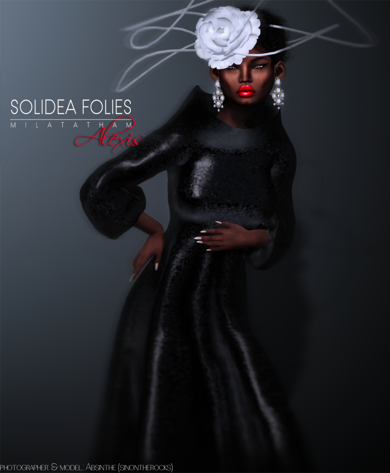 *SoliDea FoliEs* Alexis Dress (Black)  *SoliDea FoliEs* Alexis Hat (White)  Official ADV by Absinthe
